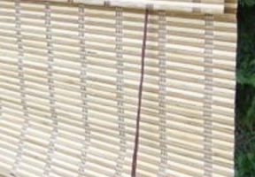Jaluzele din bambus – tip draperie romana