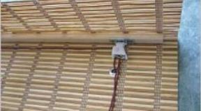 Jaluzele din bambus – mecanism actionare